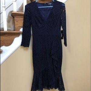 LULUs size small lace midi dress